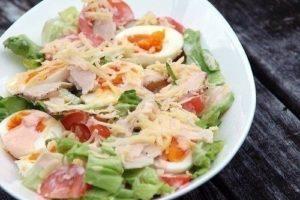 салат курица помидор яйца