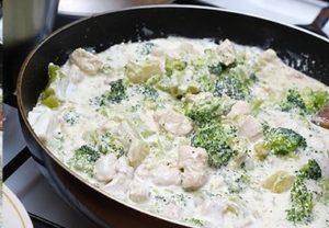 брокколи с курицей рецепт