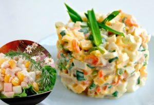 очень вкусный рецепт салата с кальмарами