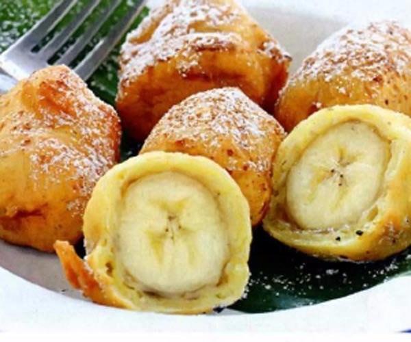 Банан в творожном кляре