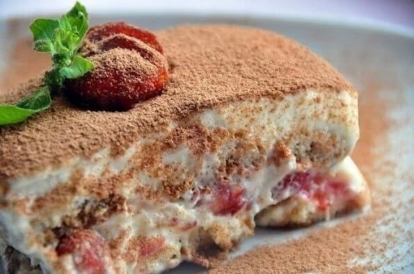 тирамису из творога на десерт