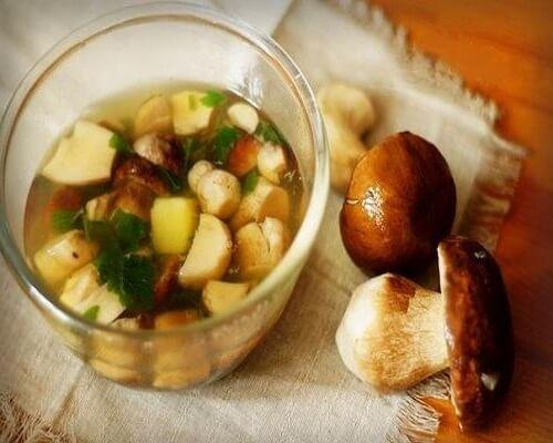 Легкий и малокалорийный Грибной суп