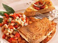 Марокканский кебаб из тунца с кускусом