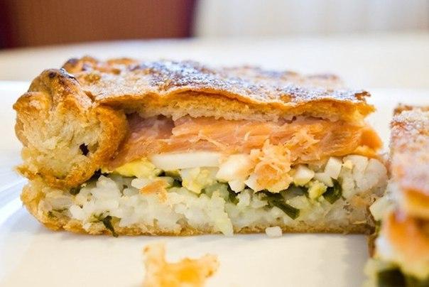 Диетический пирог с рыбой