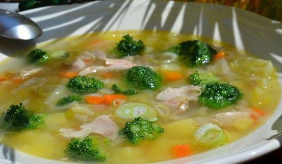 Диетический суп с брокколи