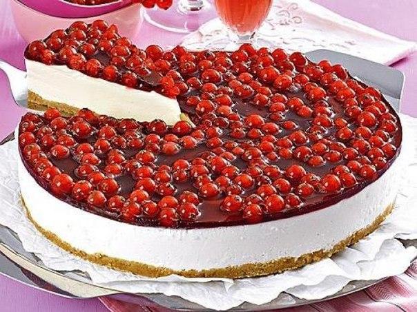 Диетический чизкейк с ягодами