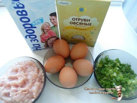 Омлет с куриным фаршем в мультиварке рецепт