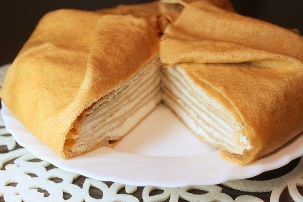 Торт из яичных блинов