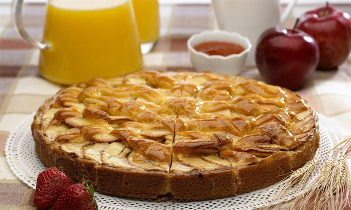 Быстрый яблочный пирог без муки