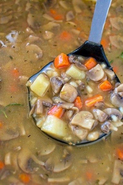 Грибной суп (постное меню)