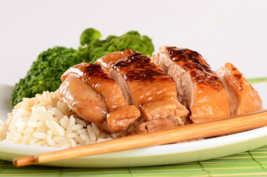 Куриное филе запеченное с медом и соевым соусом