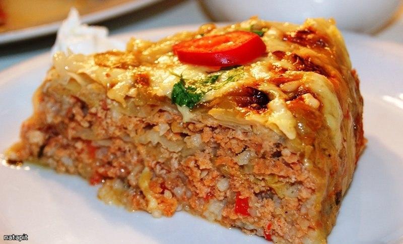 Курино-капустный пирог