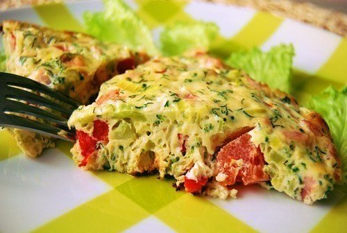 Нежный омлет с овощами рецепт