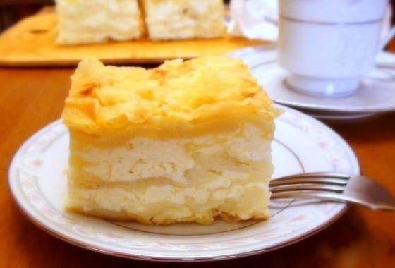 Пирог из лаваша с творогом и сулугуни
