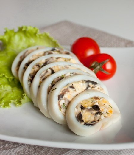 Список простых блюд с кальмаром