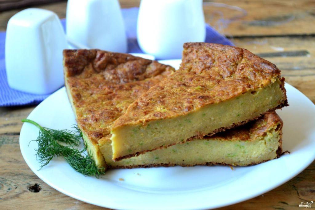Сырный пирог с кабачками