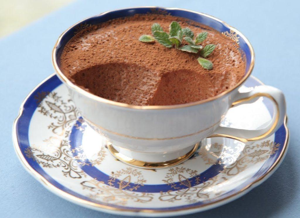Творожно-шоколадный мусс с какао