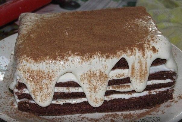 Шоколадно-творожный торт при диете