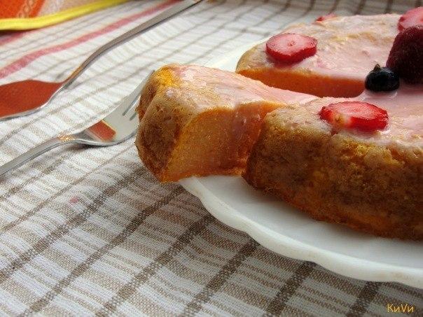 Воздушный пирог из тыквы