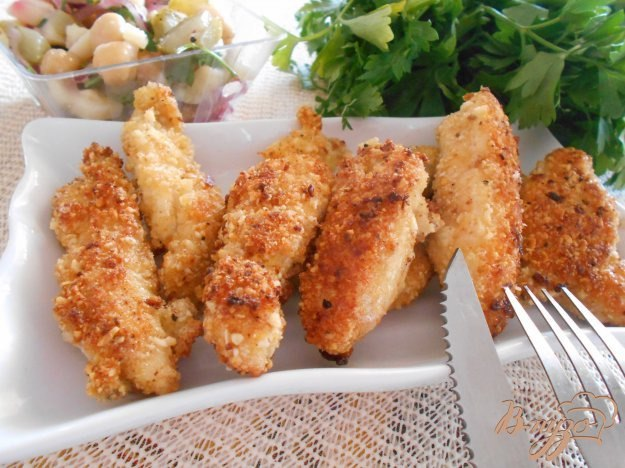 Куриное филе в овсяной панировке
