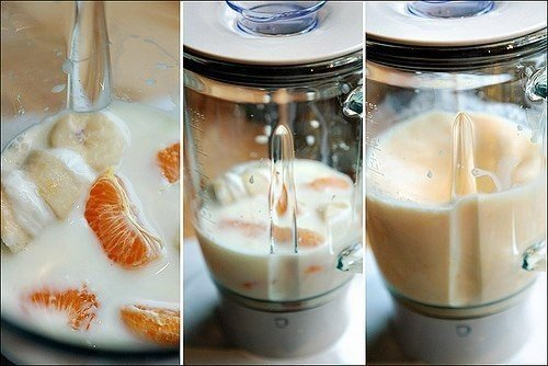 Молочный коктейль из мандаринов