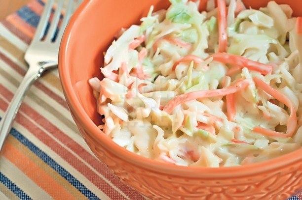 Сливочный капустный салат