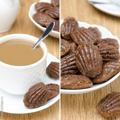 Шоколадно-кофейные мадлен