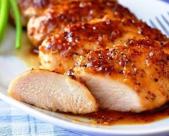 Сочное филе в медово-соевом