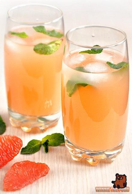 Освежающий напиток из грейпфрута и мяты