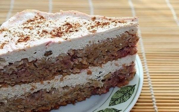 Торт на твороге диетический