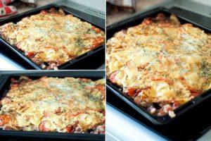 рецепт мясо под шубой в духовке