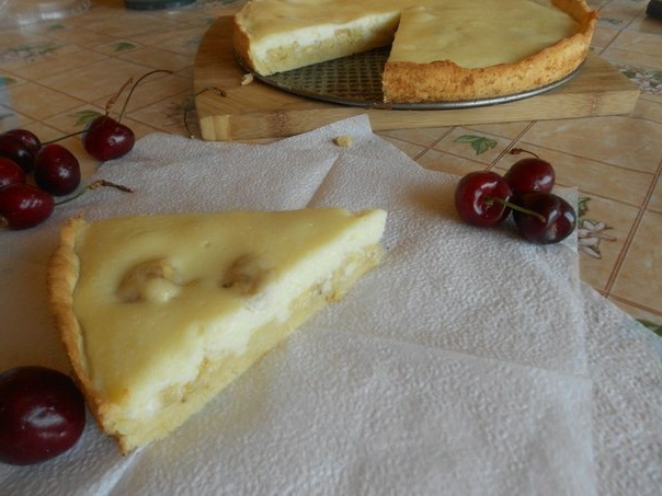 банановый пирог с творогом рецепт с фото
