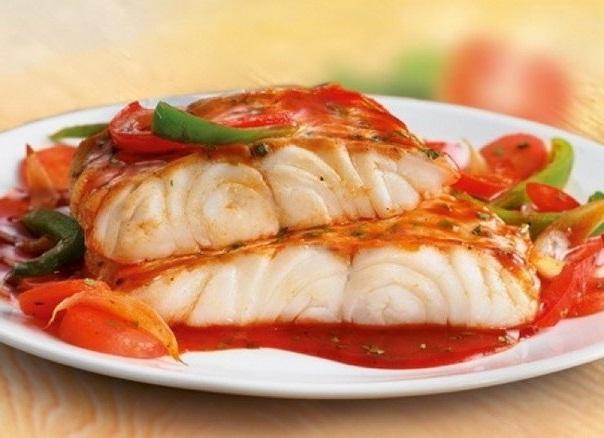 Рыба под овощным маринадом