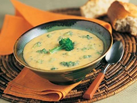Низкокалорийный сырный суп