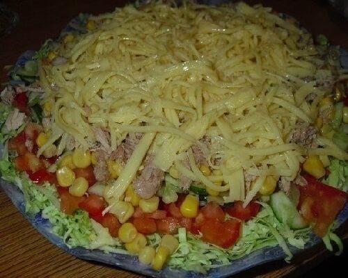 Малокалорийный салат фото