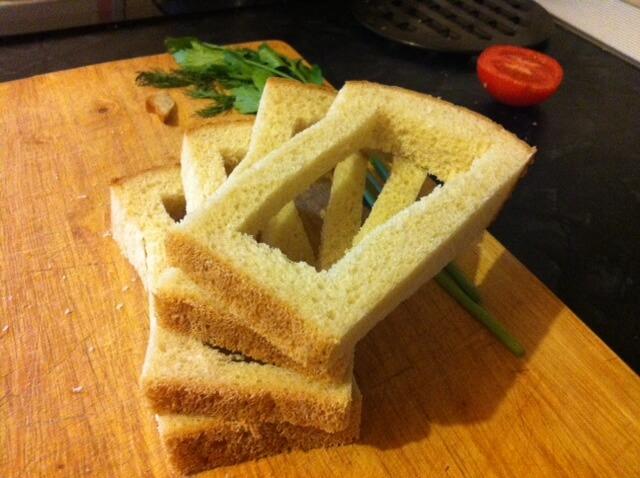 """""""Окошки"""" для нашего сендвича"""