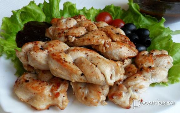 Косички из куриного филе
