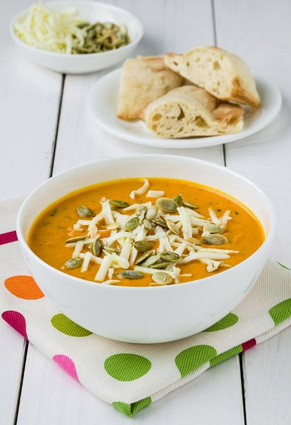 Крем-суп из запечённой тыквы