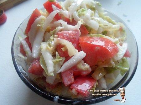 Овощной салат для диеты