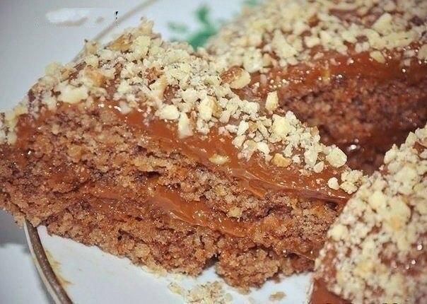 Ореховый диетический тортик за 5 минут