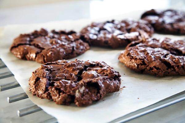 Творожно-шоколадное печенье