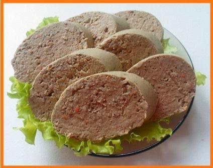 Домашняя ливерная колбаса для диеты