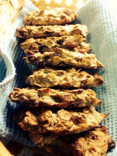 Банановое печенье на завтрак