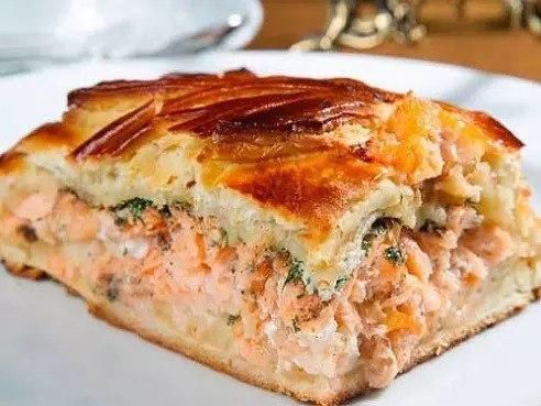 Рыбный пирог с рисом рецепт с фото