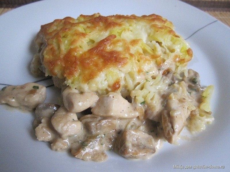 Картофельная запеканка без мяса рецепт и