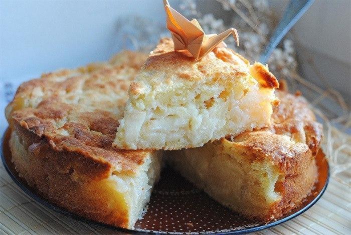 Рецепт выпечка творог с яблоками