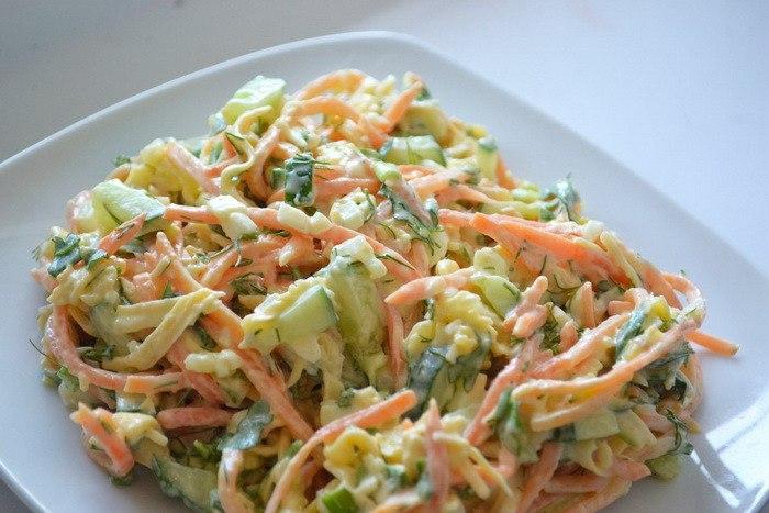 Салат с корейской морковки и курицы