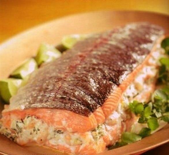 Фаршированный лосось рецепт блюда