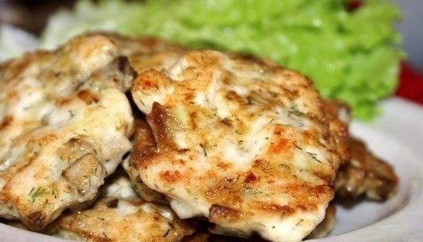 Котлетки из курицы и грибов