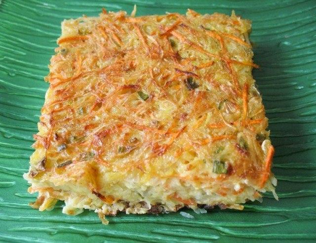 Овощная запеканка с кабачками рецепт фото
